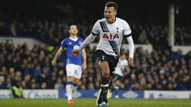 dele alli célébrant son but contre everton