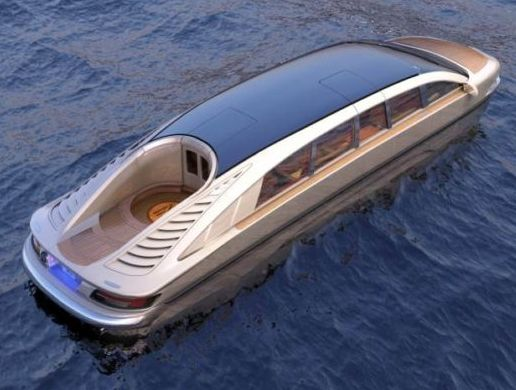 See The Limousine That Move On Land & On Water (Photos)
