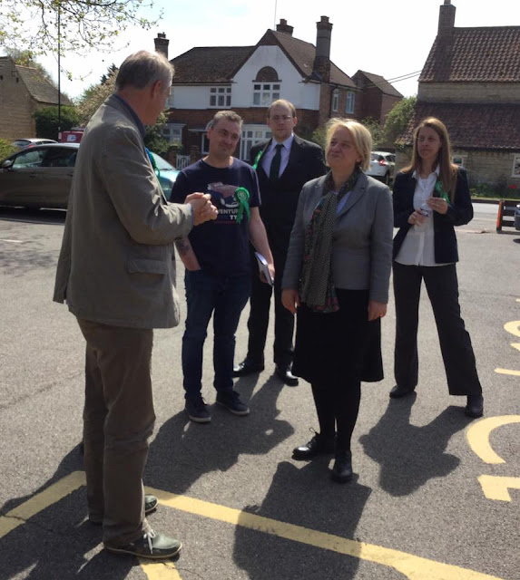 Stewart Jackson MP welcomed Natalie Bennett to Peterborough