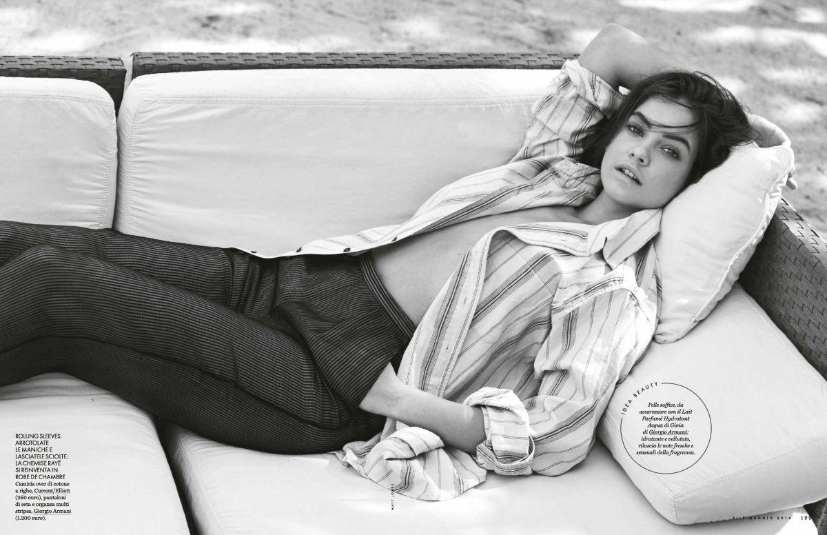 Beauty Mags Barbara Palvin Elle Italy May 2016