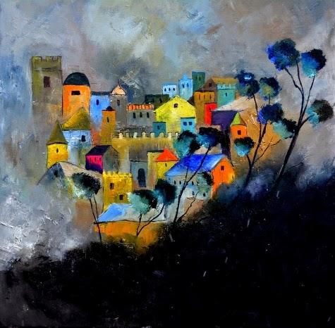 Castelo de Memórias - Cores fortes e vibrantes nas pinturas de Pol Ledent