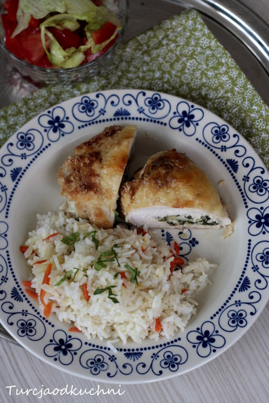 Roladki ze szpinakiem i serem