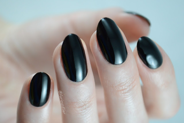 black nail polish maggie anne pearl swatch