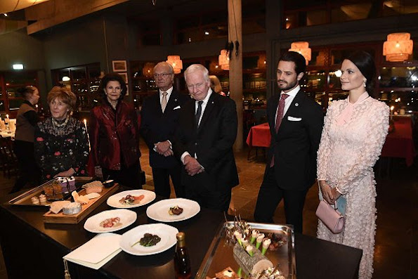 Queen Silvia, Prince Carl Philip, Princess Sofia, David Johnston and Sharon Johnston attended the Friends of Canada Reception