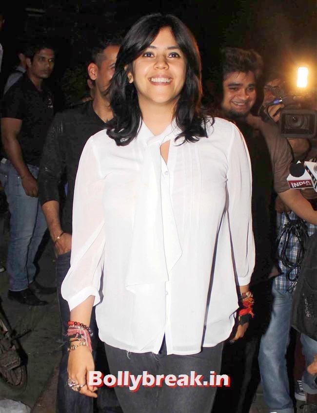 Ekta Kapoor, Sunny Leone, Gauhar & Sana Khan at Baby Doll Success Party