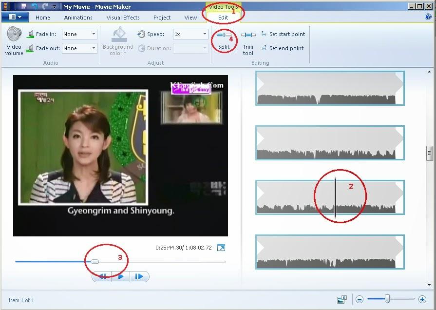 Cara mengkrop video dengan movie maker di Windows 7 Step 2