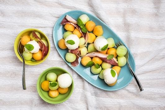 13 Melon Parma Ham Bocconcini Salad