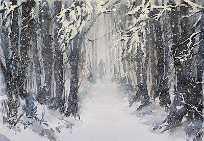 BluOltremare Paesaggi invernali 3  Winter landscape 3