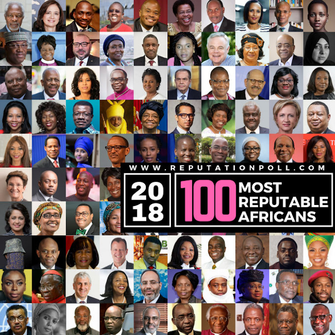 100 Most Reputable Africans 2018 Announced
