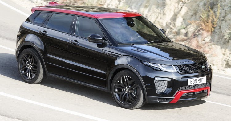 updated 2017 range rover evoque gains more tech and new ember limited edition. Black Bedroom Furniture Sets. Home Design Ideas