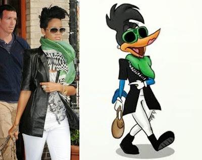 Rihanna se parece a un pájaro carpintero.