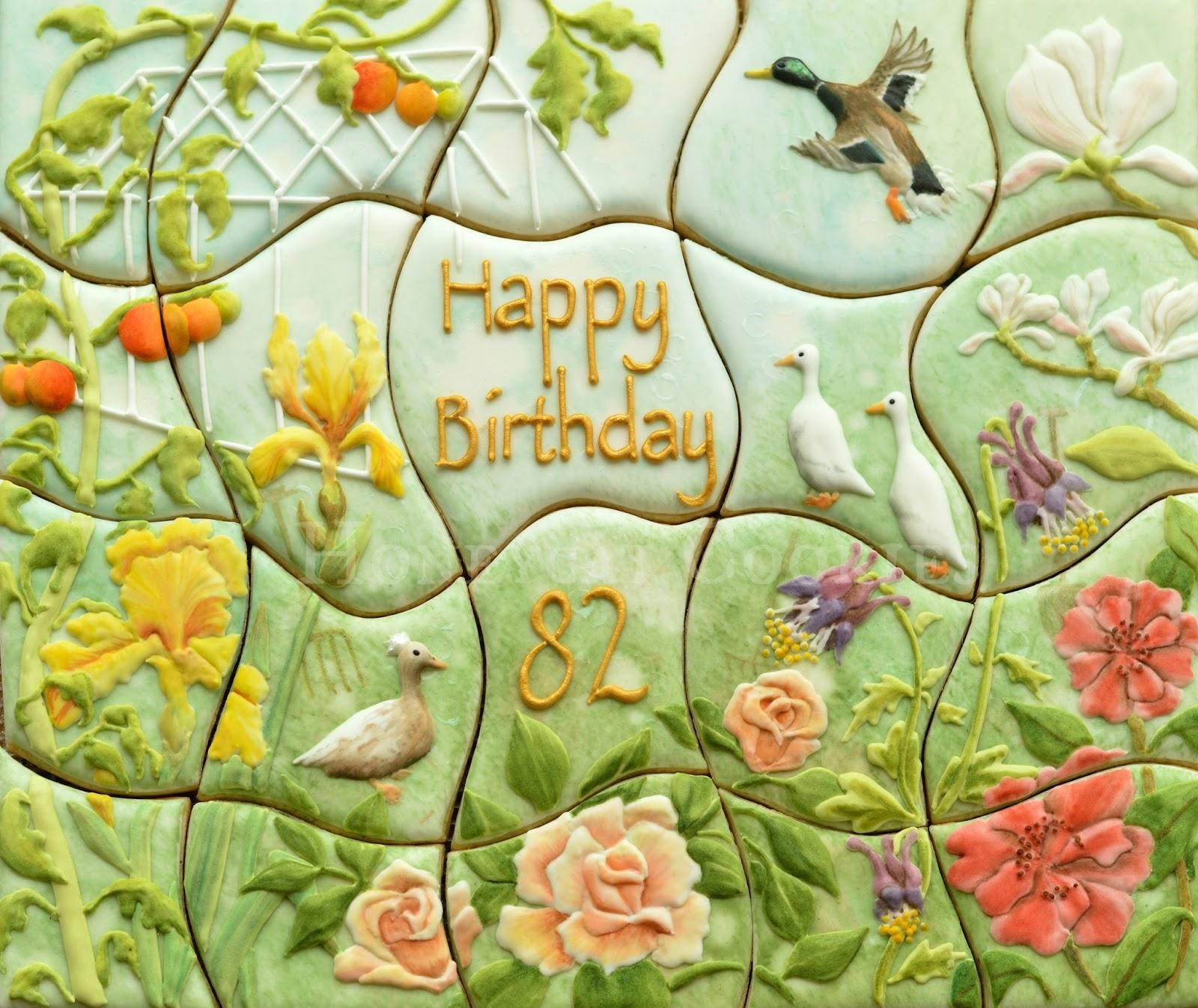 Garden Cookiesaw Cookie Jigsaw Puzzle Handpainted