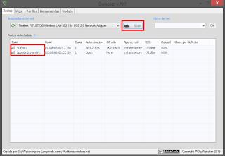 proses memindai daftar wifi yang tersedia