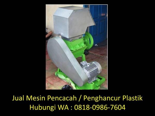 mesin pencacah plastik shredder di bandung