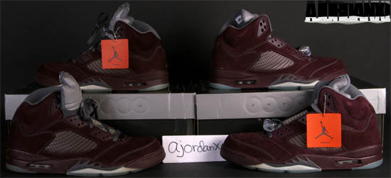 brand new 2d1a4 cbff3 Air Jordan V Retro LS Deep Burgundy Flint Grey-Silver (2006)
