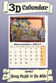 3D Calendar for November 2017