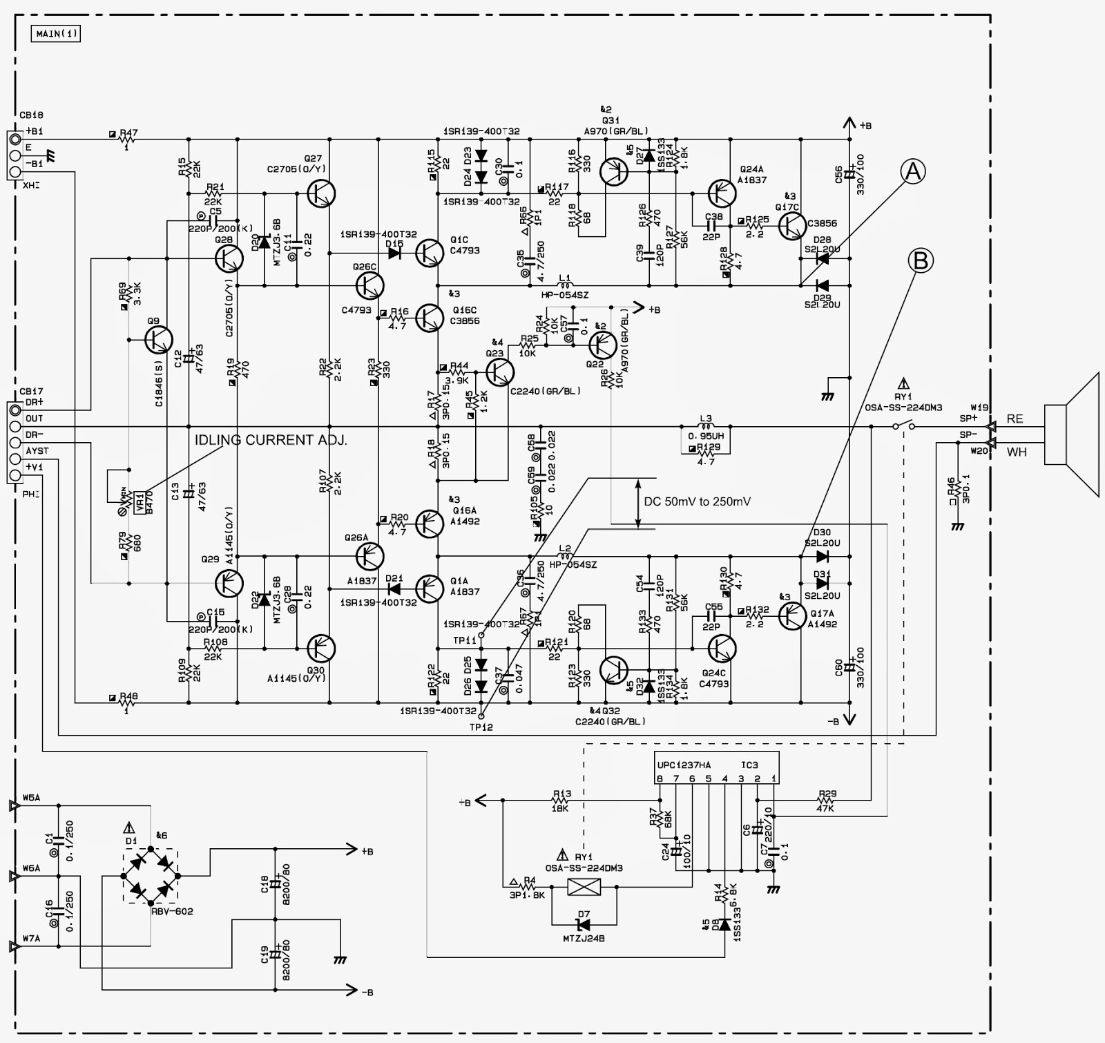 woofer schematic circuit diagram troubleshooting electro help