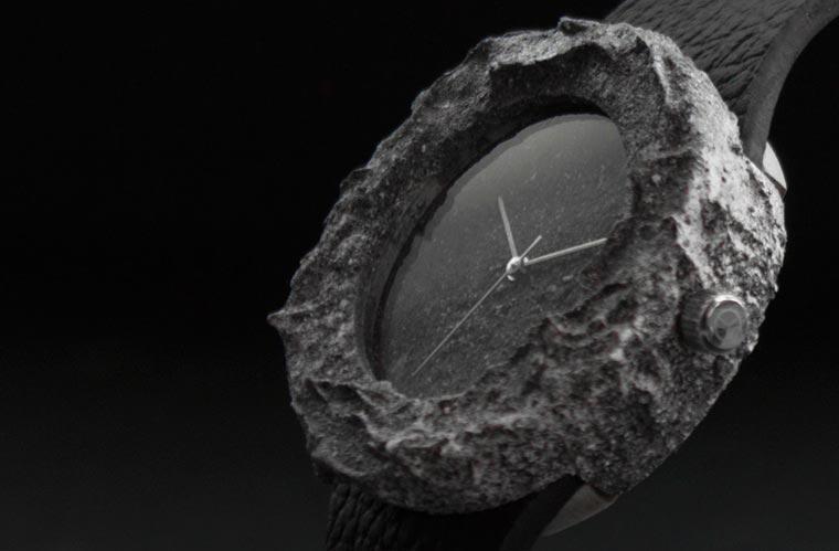 c6a02ecacd2 Lunar Watch - Relógio é esculpida de uma verdadeira pedra da lua ...