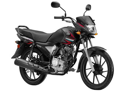 Yamaha Saluto 125cc black side look image