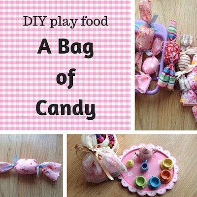 DIY play food: a bag of candy