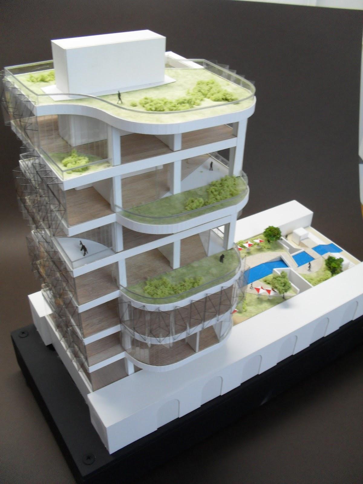 maqueta de maqueta de estudio de edificio