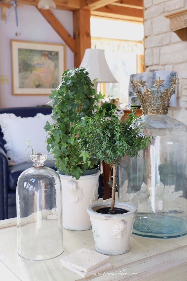 Winter French Country living room decor