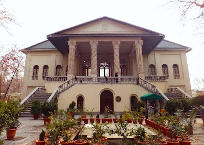 The two story mansion of Cinema Museum of Iran in Ferdows Garden.