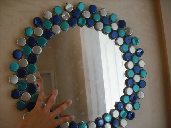 Wall Mirror For Boys  Room. How to Create Best Crafts for Kids Using the Waste Things around