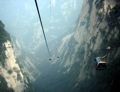 Kereta gantung Mount Hua di China.