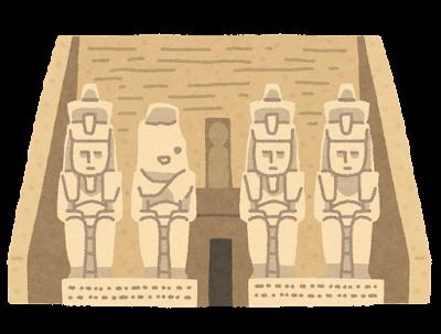 アブシンベル神殿のイラスト