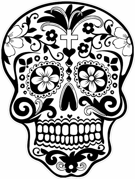 New Sugar Skull Coloring Page For Kids