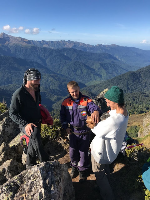 МЧС спасли собаку в горах, Фунтик