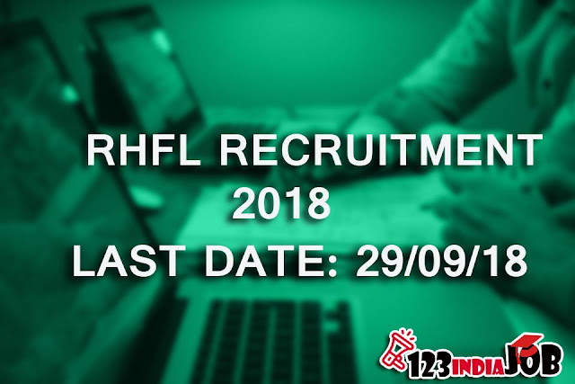 RHFL RECRUITMENT 2018: ASSISTANT MANAGER POST