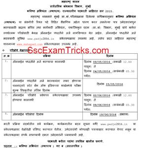Maharashtra PWD JE Exam Date 2016