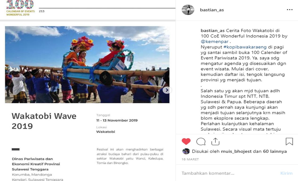 Cerita Foto Wakatobi Di 100 Coe Wonderful Indonesia 2019