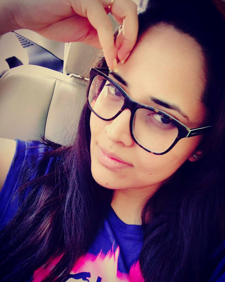 Telugu TV Anchor Anasuya Bharadwaj Face Closeup Photos With Black Glass