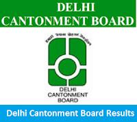 Delhi Cantonment Board Results