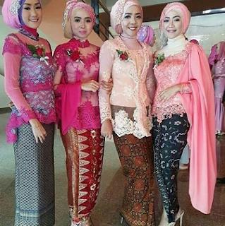 Kreasi Jilbab Untuk Kebaya Modern