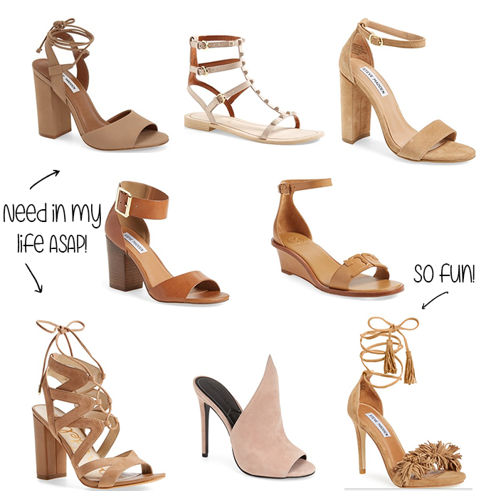 the girlish blog, neutral shoes for spring, spring style, spring fashion