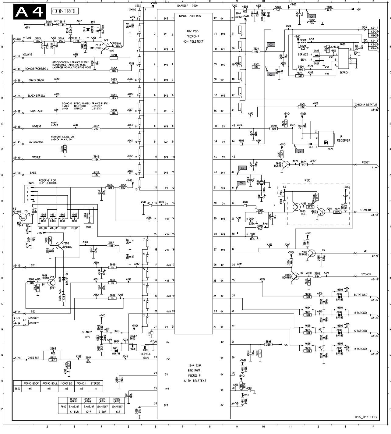 Schematic Diagrams  Philips 21pt1663 Crttv Circuit Diagram