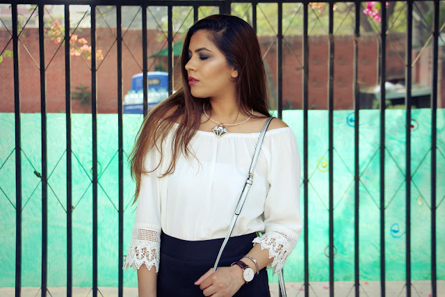 fashion, skort, off shoulder top, metallic wedges, metallic sling bag, chocker necklace, delhi blogger, delhi fashion blogger, indian blogger, indian fashion blogger, newchic, how to style skort, how to style off shoulder top, beauty , fashion,beauty and fashion,beauty blog, fashion blog , indian beauty blog,indian fashion blog, beauty and fashion blog, indian beauty and fashion blog, indian bloggers, indian beauty bloggers, indian fashion bloggers,indian bloggers online, top 10 indian bloggers, top indian bloggers,top 10 fashion bloggers, indian bloggers on blogspot,home remedies, how to