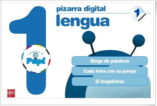 "Pizarra Digital ""Conecta con Pupi"" S.M. (1º Primaria Lengua)"