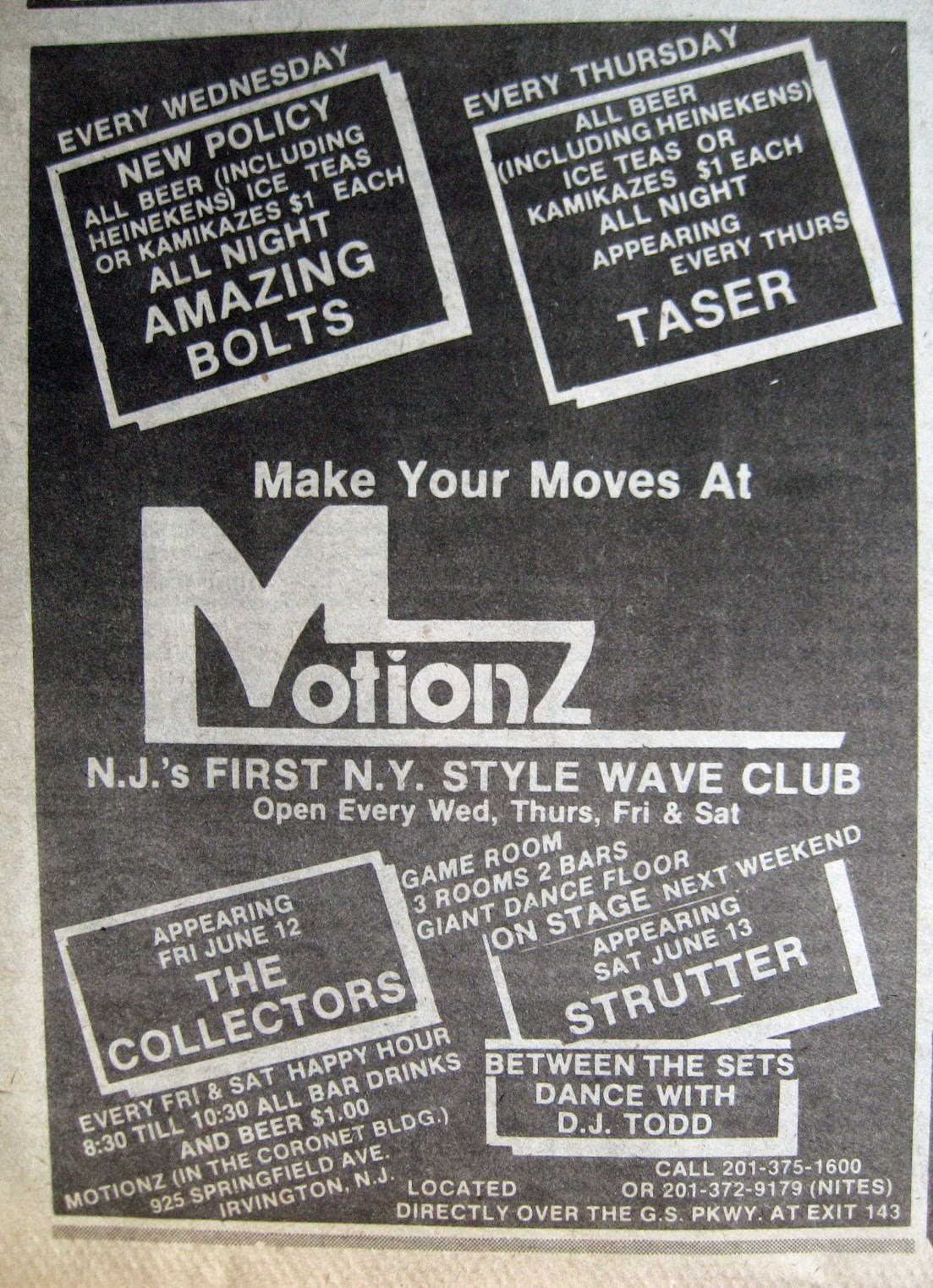 Motionz band line up 1981