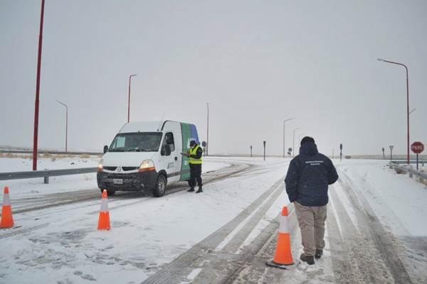 ALERTA por nevadas en varias localidades de la Línea Sur