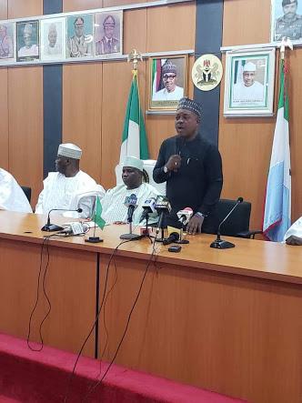 All PDP Presidential Aspirants Meet Gov. Tambuwal In Sokoto