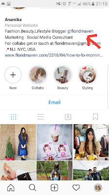 Instagram clickable link