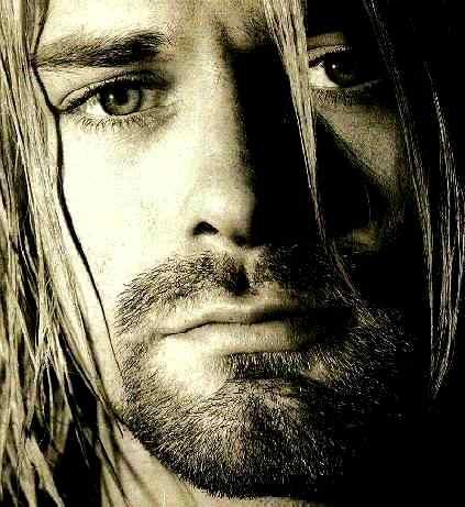 Foto de Kurt Cobain de cerca