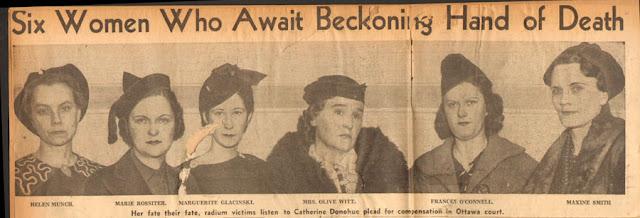 vítimas da radioactividade