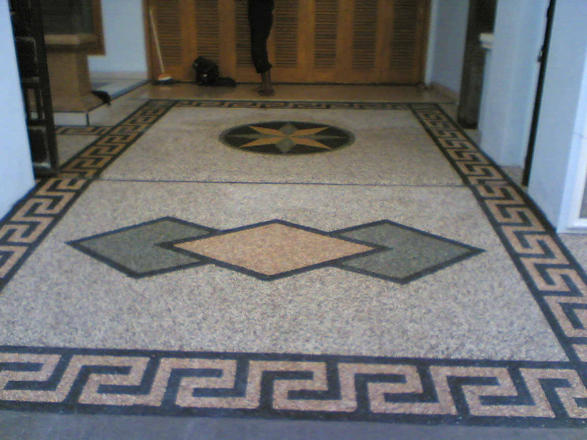 model lantai batu sikat