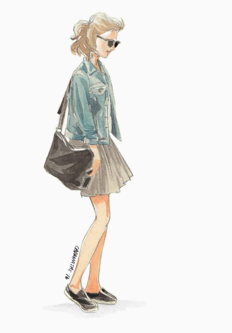 Parisian fashion ootd #fashionillustration